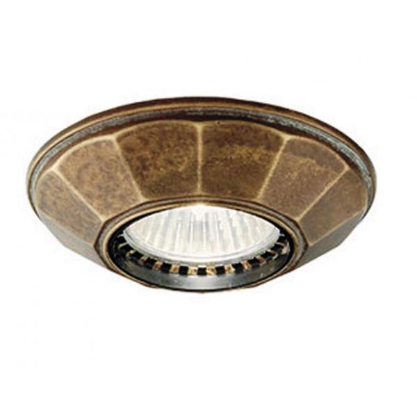 Plafonier,Spot clasic antique brass diametru 10cm I Girasoli 208.09.OO, Spoturi incastrate, aplicate - tavan / perete, Corpuri de iluminat, lustre, aplice a