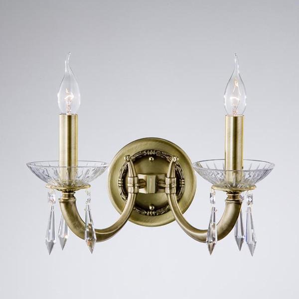 Aplica de perete LUX cristal Asfour fabricat manual Veronica 2573/2 Bejorama, Magazin, Corpuri de iluminat, lustre, aplice, veioze, lampadare, plafoniere. Mobilier si decoratiuni, oglinzi, scaune, fotolii. Oferte speciale iluminat interior si exterior. Livram in toata tara.  a