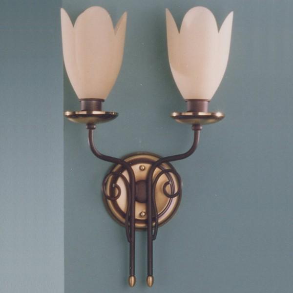 Aplica de perete LUX  fabricat manual Tulipan 6009/2 Bejorama, Magazin, Corpuri de iluminat, lustre, aplice, veioze, lampadare, plafoniere. Mobilier si decoratiuni, oglinzi, scaune, fotolii. Oferte speciale iluminat interior si exterior. Livram in toata tara.  a