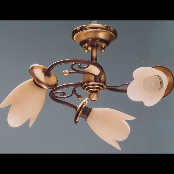Lustra de LUX fabricat manual 3 brate Tulipan 6012/3 Bejorama, Lustre aplicate, Plafoniere clasice, Corpuri de iluminat, lustre, aplice a