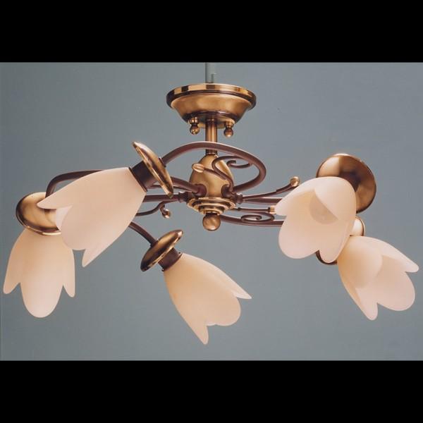 Lustra de LUX fabricat manual 5 brate Tulipan 6013/5 Bejorama, Lustre aplicate, Plafoniere clasice, Corpuri de iluminat, lustre, aplice a