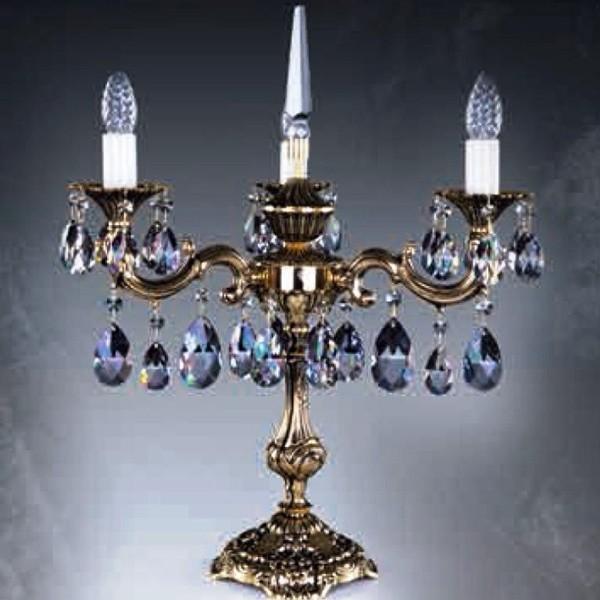 Veioza, lampa de masa cristal Bohemia SONA III. brass antique 8006 TL CE, Veioze Cristal, Corpuri de iluminat, lustre, aplice, veioze, lampadare, plafoniere. Mobilier si decoratiuni, oglinzi, scaune, fotolii. Oferte speciale iluminat interior si exterior. Livram in toata tara.  a