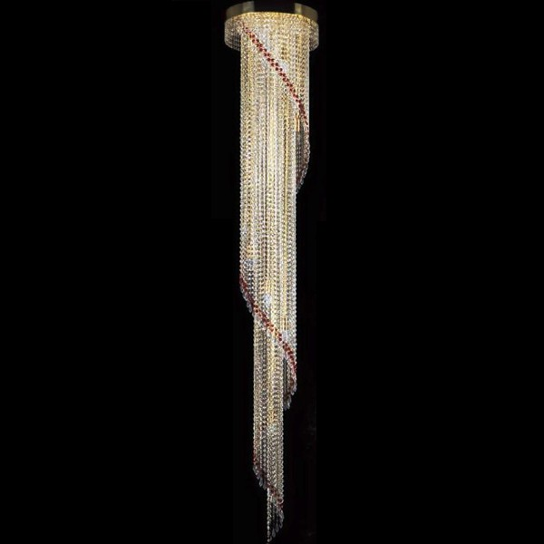 Lustra, Pendul cristal Bohemia diam.40cm H-230cm SPIRAL 400x2300 drops CE, Cele mai vandute Corpuri de iluminat, lustre, aplice, veioze, lampadare, plafoniere. Mobilier si decoratiuni, oglinzi, scaune, fotolii. Oferte speciale iluminat interior si exterior. Livram in toata tara.  a