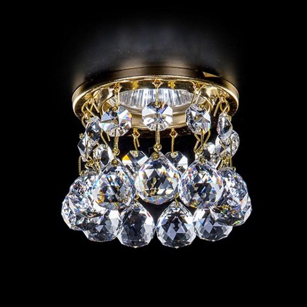 Spot tavan fals cu cristal Bohemia diam.8cm SPOT 85 CE, Spoturi tavan fals Cristal, Corpuri de iluminat, lustre, aplice, veioze, lampadare, plafoniere. Mobilier si decoratiuni, oglinzi, scaune, fotolii. Oferte speciale iluminat interior si exterior. Livram in toata tara.  a