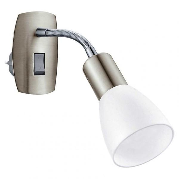 Aplica de priza cu intrerupator, spot directionabil, Dakar 3 92935 EL, Spoturi - iluminat - cu 1 spot, Corpuri de iluminat, lustre, aplice a