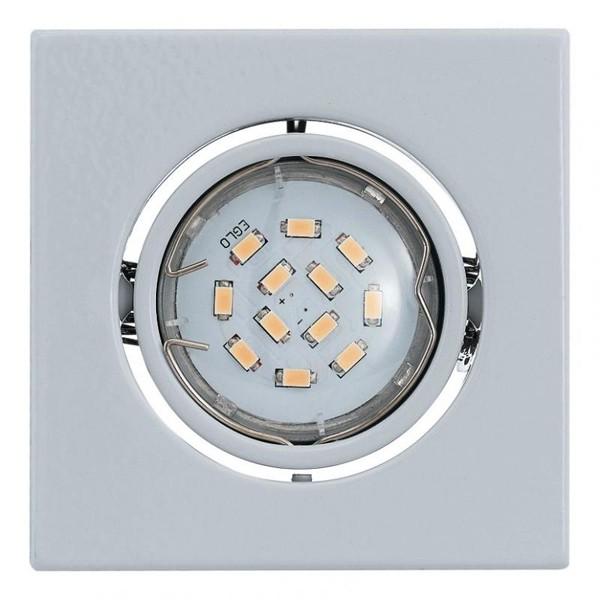 Set 3 spoturi, incastrabil pt. tavan fals, directionabil, dim. 9,5x9,5cm, LED Igoa 93245 EL, PROMOTII,  a