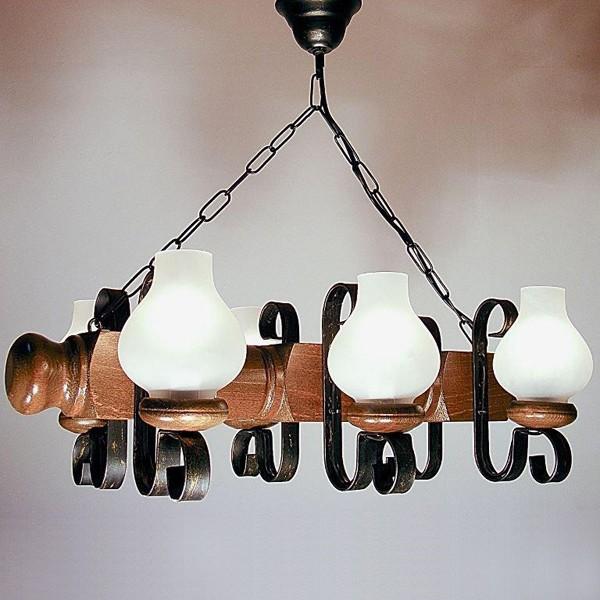 Candelabru rustic fabricat manual din lemn Rustic 1104, Magazin, Corpuri de iluminat, lustre, aplice, veioze, lampadare, plafoniere. Mobilier si decoratiuni, oglinzi, scaune, fotolii. Oferte speciale iluminat interior si exterior. Livram in toata tara.  a