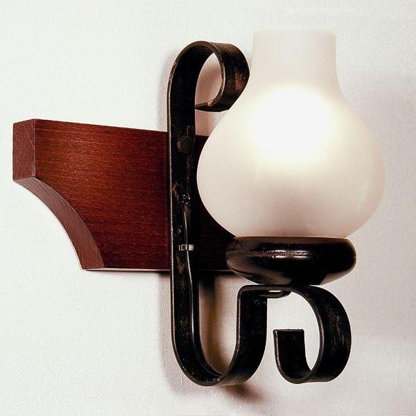 Aplica de perete rustica fabricata manual din lemn Queen WOOD-QU-AP1, Magazin,  a