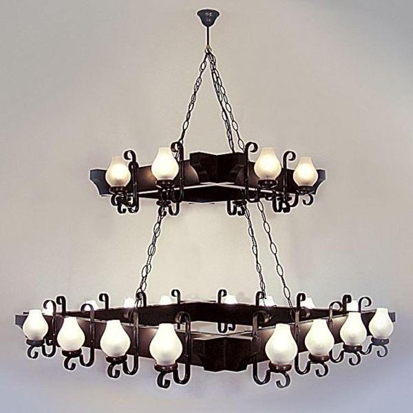 Candelabru rustic fabricat manual din lemn dim.130x130cm, 16+8 brate Queen WOOD-QU-SP24 (16+8), Magazin, Corpuri de iluminat, lustre, aplice, veioze, lampadare, plafoniere. Mobilier si decoratiuni, oglinzi, scaune, fotolii. Oferte speciale iluminat interior si exterior. Livram in toata tara.  a