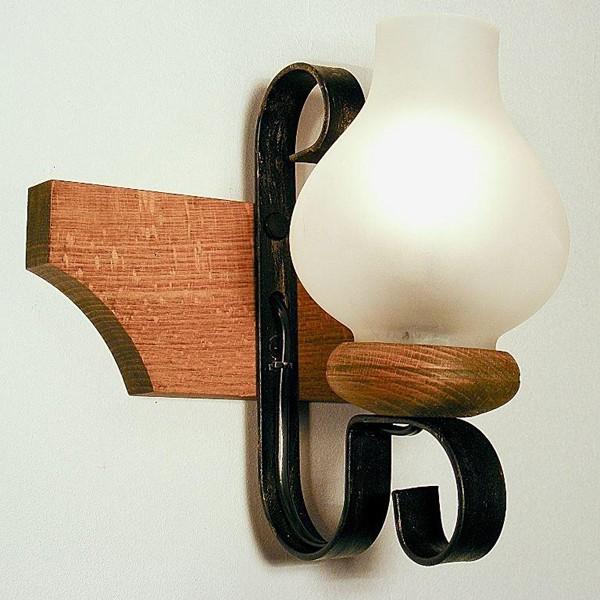 Aplica de perete rustica fabricata manual din lemn Vela WOOD-VE-AP1, Magazin, Corpuri de iluminat, lustre, aplice, veioze, lampadare, plafoniere. Mobilier si decoratiuni, oglinzi, scaune, fotolii. Oferte speciale iluminat interior si exterior. Livram in toata tara.  a