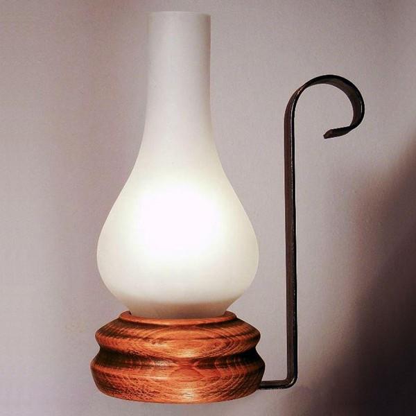 Veioza, lampa de masa rustica fabricata manual din lemn Vela WOOD-VE-TL1, Magazin,  a