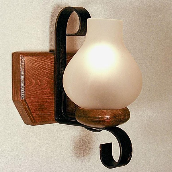 Aplica de perete rustica fabricata manual din lemn Trapez WOOD-TR-AP1, Magazin,  a