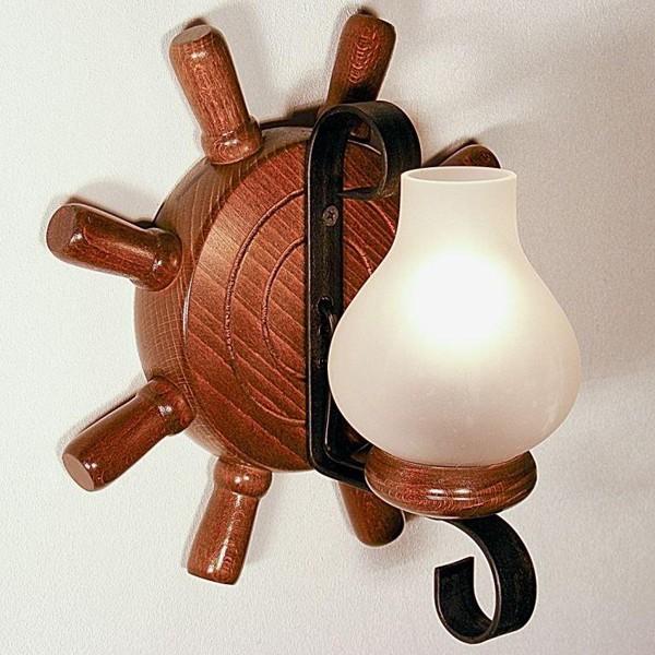 Aplica de perete rustica fabricata manual din lemn Timona WOOD-TI-AP1, Magazin, Corpuri de iluminat, lustre, aplice, veioze, lampadare, plafoniere. Mobilier si decoratiuni, oglinzi, scaune, fotolii. Oferte speciale iluminat interior si exterior. Livram in toata tara.  a