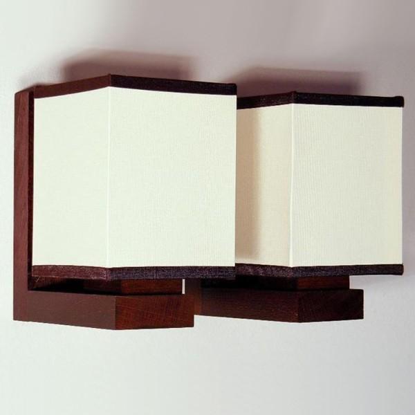 Aplica de perete rustica fabricata manual din lemn Lido WOOD-LI-AP2, Magazin,  a