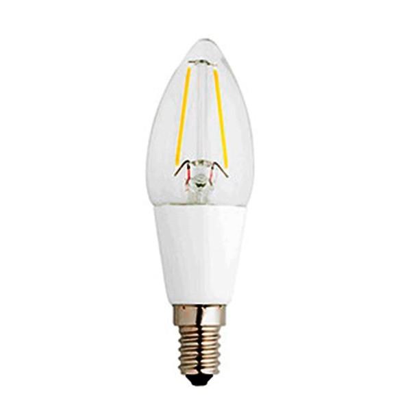 Bec E14 CANDLEFILAMENT LED 2 Watt 2700K 17421 Faro Barcelona, Becuri E14, Corpuri de iluminat, lustre, aplice a