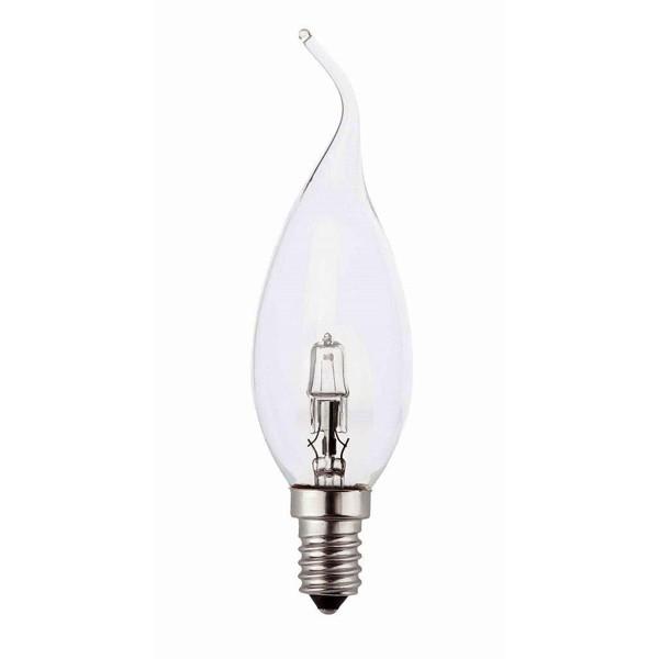 Bec ecohalogen candle E14 28 Watt 15610 Faro Barcelona, Becuri E14, Corpuri de iluminat, lustre, aplice a