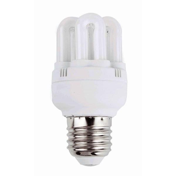 Bec super mini energy saving 6U T2 E27 11W 2700K warm light 16290 Faro Barcelona, Becuri E27, Corpuri de iluminat, lustre, aplice a