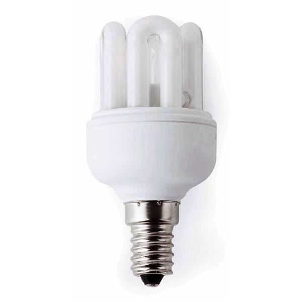 Bec super mini energy saving 6U T2 E14 11W 5000K cold  light 16591 Faro Barcelona, Becuri E14, Corpuri de iluminat, lustre, aplice a