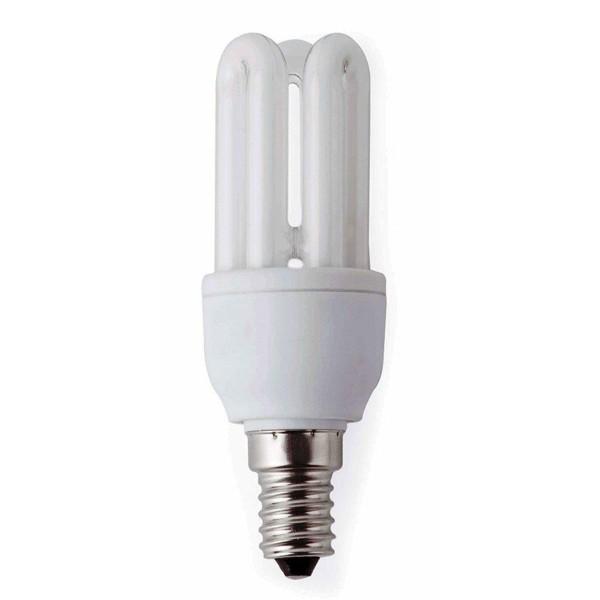 Bec mini energy saving 3U T2 E14 5W 2700K warm light 16138 Faro Barcelona, Becuri E14, Corpuri de iluminat, lustre, aplice a