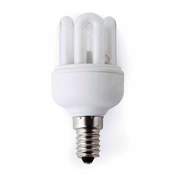 Bec mini energy saving 6U T2 E14 15W 2700K warm light 16294 Faro Barcelona, Becuri E14, Corpuri de iluminat, lustre, aplice a
