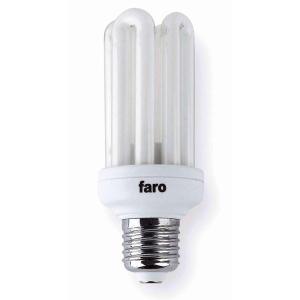 Bec energy saving 4U T3 E27 23W 2700K warm light 16164 Faro Barcelona, Becuri E27, Corpuri de iluminat, lustre, aplice a