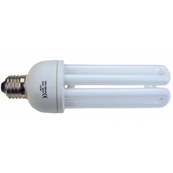 Bec energy saving 4U T4 E27 30W 2700K warm light 16155 Faro Barcelona, Becuri E27, Corpuri de iluminat, lustre, aplice a