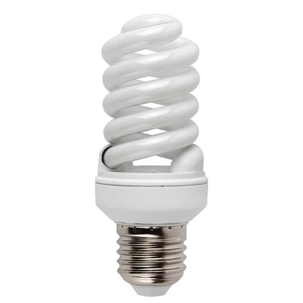 Bec energy saving micro spiral E14 15W 5000K cold light 16623 Faro Barcelona, Becuri E14, Corpuri de iluminat, lustre, aplice a