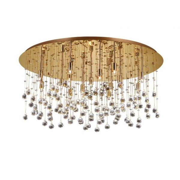 Plafonier cristal Venezian diam. 80cm MOONLIGHT PL15 Oro 082790,  a