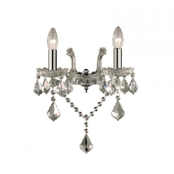 Aplica 2 brate cristal Venezian FLORIAN AP2 cromo 035642, Cele mai vandute Corpuri de iluminat, lustre, aplice, veioze, lampadare, plafoniere. Mobilier si decoratiuni, oglinzi, scaune, fotolii. Oferte speciale iluminat interior si exterior. Livram in toata tara.  a