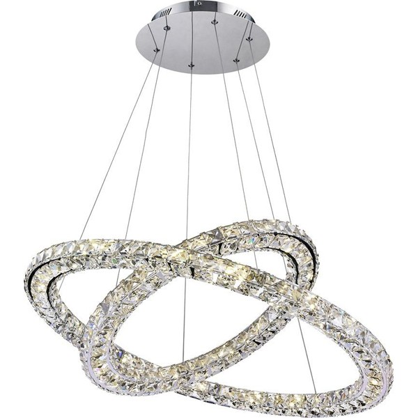 Lustra avangard cu cristale K9, inele reglabile,LED Marilyn 1 67037-60 GL, Lustre LED, Pendule LED, Corpuri de iluminat, lustre, aplice a