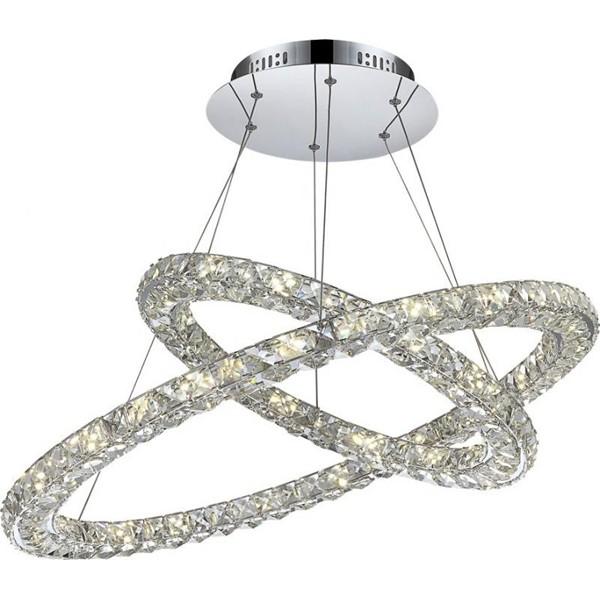 Lustra avangard cu cristale K9, inele reglabile,LED Marilyn 1 67038-64 GL, Lustre LED, Pendule LED, Corpuri de iluminat, lustre, aplice a