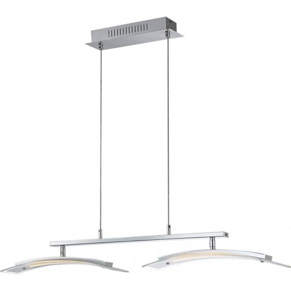 Lustra, Pendul cu doua corpuri de lumina reglabile, dimmer,  LED Valeria 68102-2H GL, Lustre LED, Pendule LED, Corpuri de iluminat, lustre, aplice a