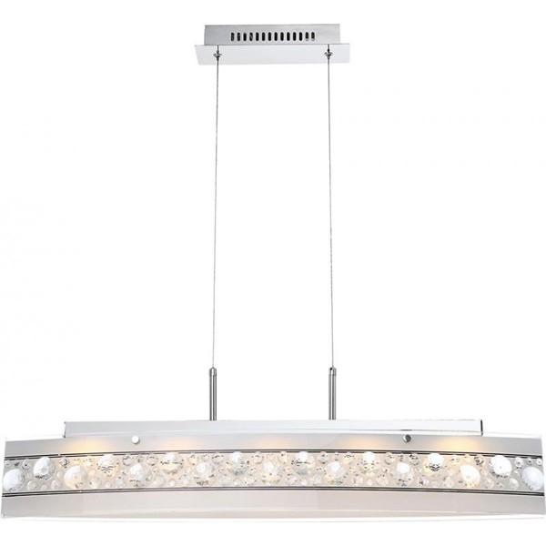 Lustra, Pendul cu cristale K5, dim.90x12cm, H-100cm LED Louise 48175-18H GL, Lustre LED, Pendule LED, Corpuri de iluminat, lustre, aplice a