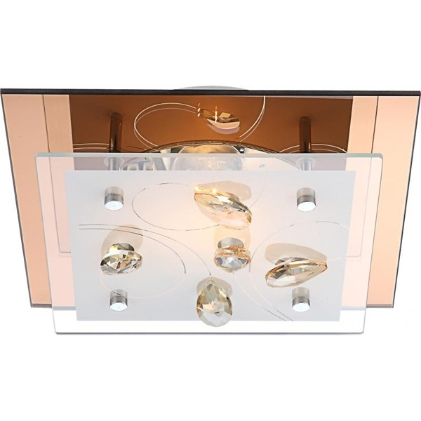 Plafonier cu cristale K5, dim.24x24cm, Ayana 40412 GL, Candelabre si Lustre moderne elegante⭐ modele clasice de lux pentru living, bucatarie si dormitor.✅ DeSiGn actual Top 2020!❤️Promotii lampi❗ ➽ www.evalight.ro. Oferte corpuri de iluminat suspendate pt camere de interior (înalte), suspensii (lungi) de tip lustre si candelabre, pendule decorative stil modern, clasic, rustic, baroc, scandinav, retro sau vintage, aplicate pe perete sau de tavan, cu cristale, abajur din material textil, lemn, metal, sticla, bec Edison sau LED, ieftine de calitate deosebita la cel mai bun pret. a