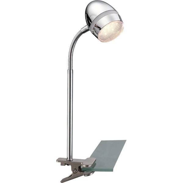 Veioza, lampa de masa cu clip, flexibila, LED Manjola 56206-1K GL, Veioze LED, Lampadare LED, Corpuri de iluminat, lustre, aplice a