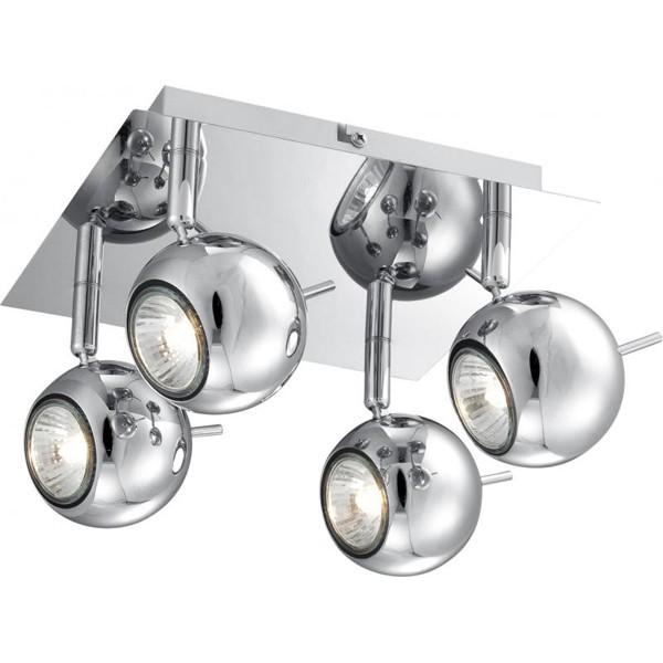 Plafoniera dim.22x22cm, 4 spoturi Oberon 57881-4 GL, Spoturi - iluminat - cu 4 spoturi, Corpuri de iluminat, lustre, aplice a