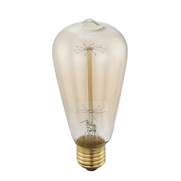 Bec EDISON deco vintage E27 60 Watt 11405 GL, Becuri E27, Corpuri de iluminat, lustre, aplice a