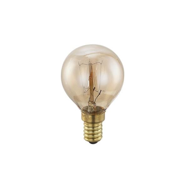 Bec EDISON deco vintage E14 ILLU 40 Watt 11401 GL, Becuri E14, Corpuri de iluminat, lustre, aplice a