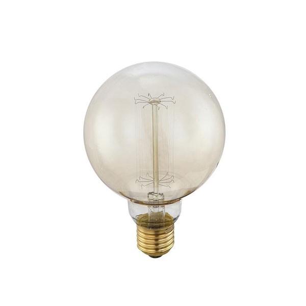 Bec EDISON deco vintage E27 EDISON Globe 60 Watt 11404 GL, Becuri E27, Corpuri de iluminat, lustre, aplice a