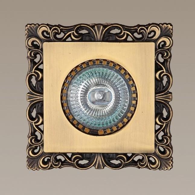Spot incastrat dim.10x10cm, Antic II MB5009 MX, Spoturi incastrate, aplicate - tavan / perete, Corpuri de iluminat, lustre, aplice a