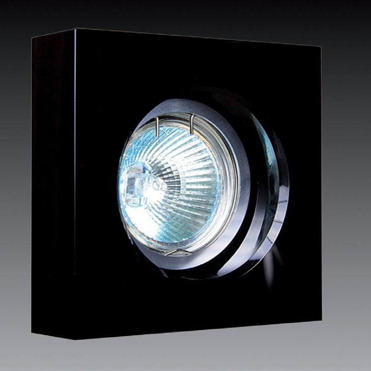 Spot incastrat dim.10x10cm, 9941 BLACK MX, Spoturi incastrate, aplicate - tavan / perete, Corpuri de iluminat, lustre, aplice a