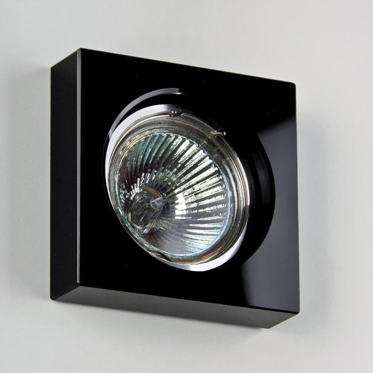 Spot incastrat dim.8x8cm, 9957 BLACK MX, Spoturi incastrate, aplicate - tavan / perete, Corpuri de iluminat, lustre, aplice a
