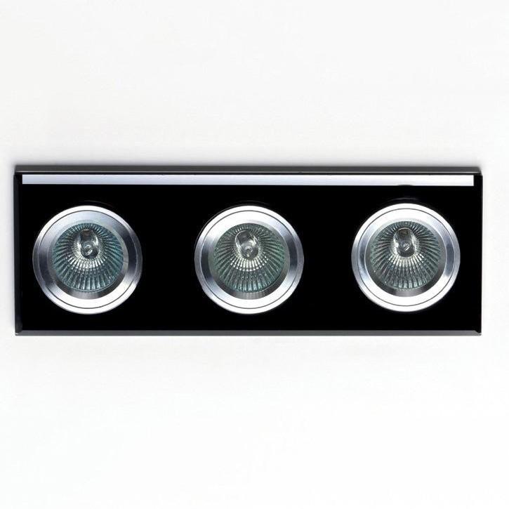 Spot incastrat dim.25,5x9cm, DK-03BLACK MX, Spoturi incastrate, aplicate - tavan / perete, Corpuri de iluminat, lustre, aplice a