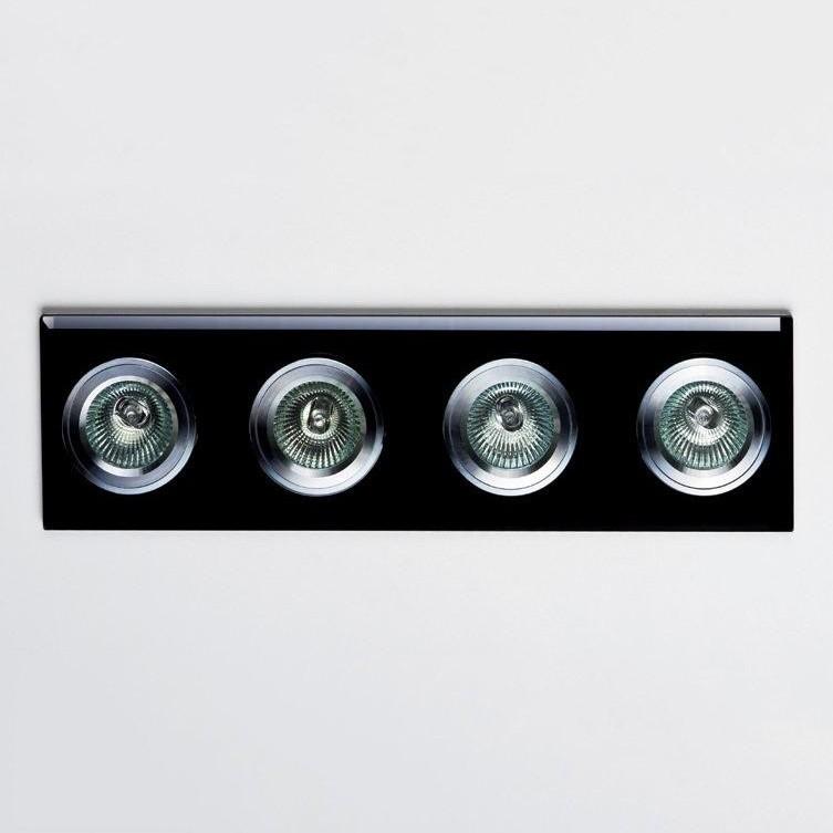 Spot incastrat dim.35,5x9cm, DK-04BLACK MX, Spoturi incastrate, aplicate - tavan / perete, Corpuri de iluminat, lustre, aplice a