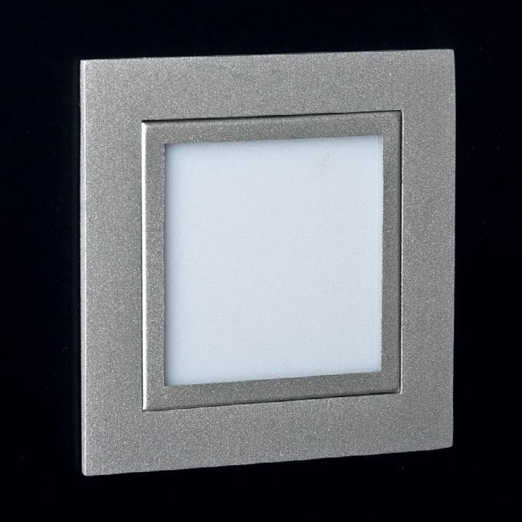 Spot incastrat dim.8x8cm, LED Plano Glass LEN.2C MX, Spoturi LED incastrate, aplicate, Corpuri de iluminat, lustre, aplice a