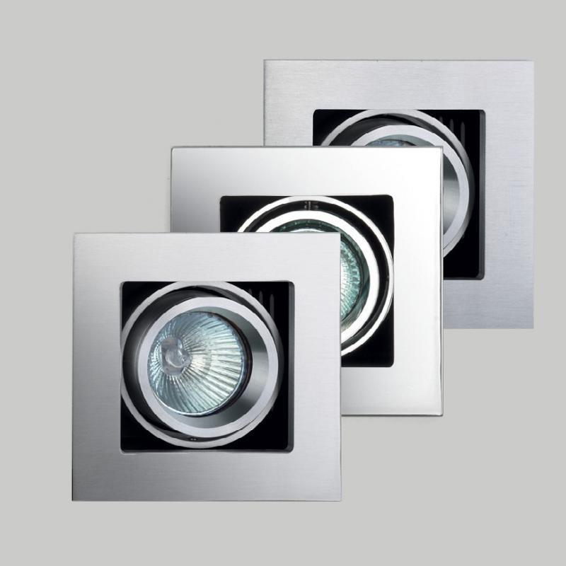 Spot incastrat dim.11x11cm, Box I cromat, nickel sau aluminiu H0012 MX, Spoturi incastrate, aplicate - tavan / perete, Corpuri de iluminat, lustre, aplice a