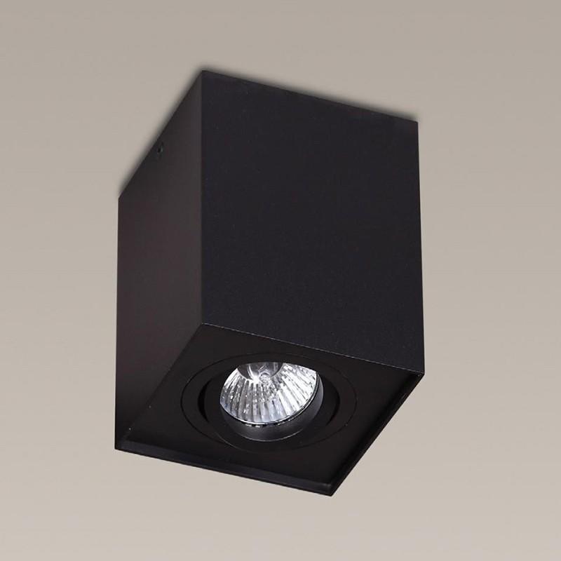 Plafonier, Spot aplicat negru, dim.9,5x9,5cm, BASIC SQUARE 200 83 03 01 MX, Spoturi incastrate, aplicate - tavan / perete, Corpuri de iluminat, lustre, aplice, veioze, lampadare, plafoniere. Mobilier si decoratiuni, oglinzi, scaune, fotolii. Oferte speciale iluminat interior si exterior. Livram in toata tara.  a