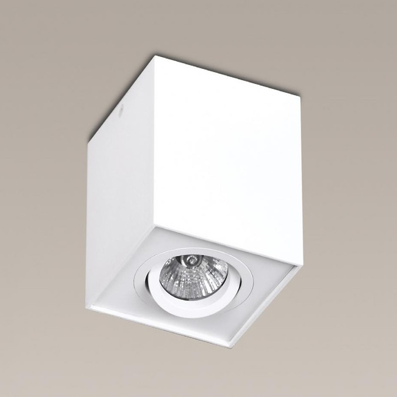 Plafonier, Spot aplicat alb, dim.9,5x9,5cm, BASIC SQUARE 200 83 01 01 MX, Spoturi incastrate, aplicate - tavan / perete, Corpuri de iluminat, lustre, aplice, veioze, lampadare, plafoniere. Mobilier si decoratiuni, oglinzi, scaune, fotolii. Oferte speciale iluminat interior si exterior. Livram in toata tara.  a