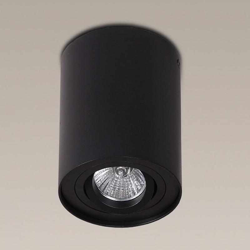 Plafonier, Spot aplicat negru, diam.9,5cm, BASIC ROUND C0069 MX, Spoturi incastrate, aplicate - tavan / perete, Corpuri de iluminat, lustre, aplice a