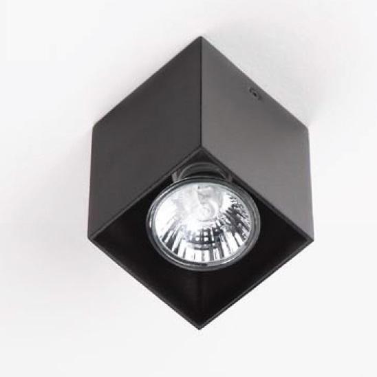 Plafonier, Spot aplicat negru, dim.7x7cm, PET SQUARE C0083 MX, Spoturi incastrate, aplicate - tavan / perete, Corpuri de iluminat, lustre, aplice a